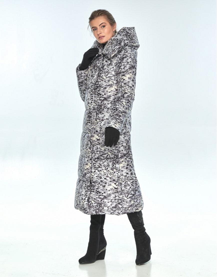 Зимняя куртка с рисунком женская Ajento модная 21550 фото 1