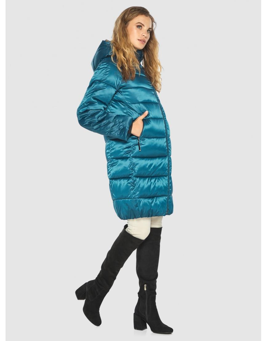 Комфортная аквамариновая куртка Kiro Tokao женская 60048 фото 5
