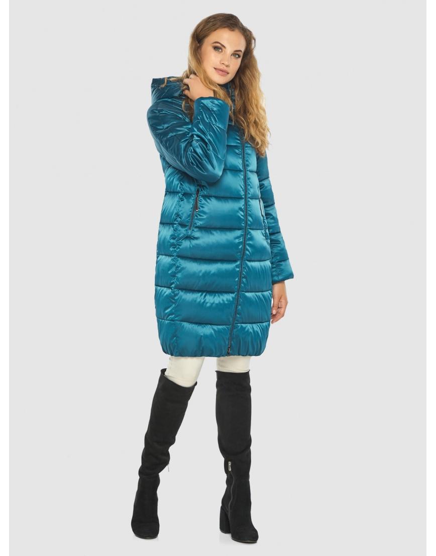 Комфортная аквамариновая куртка Kiro Tokao женская 60048 фото 6