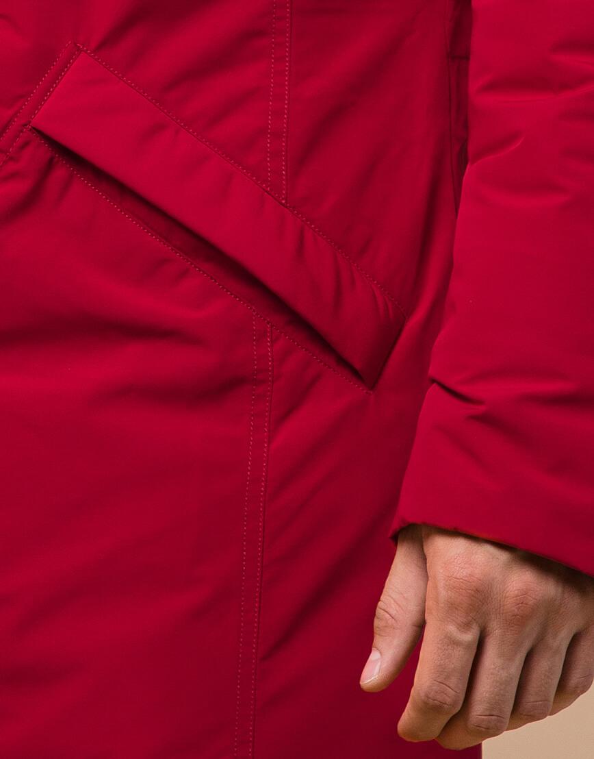 Мужская парка красная на зиму модель 23675 оптом фото 5