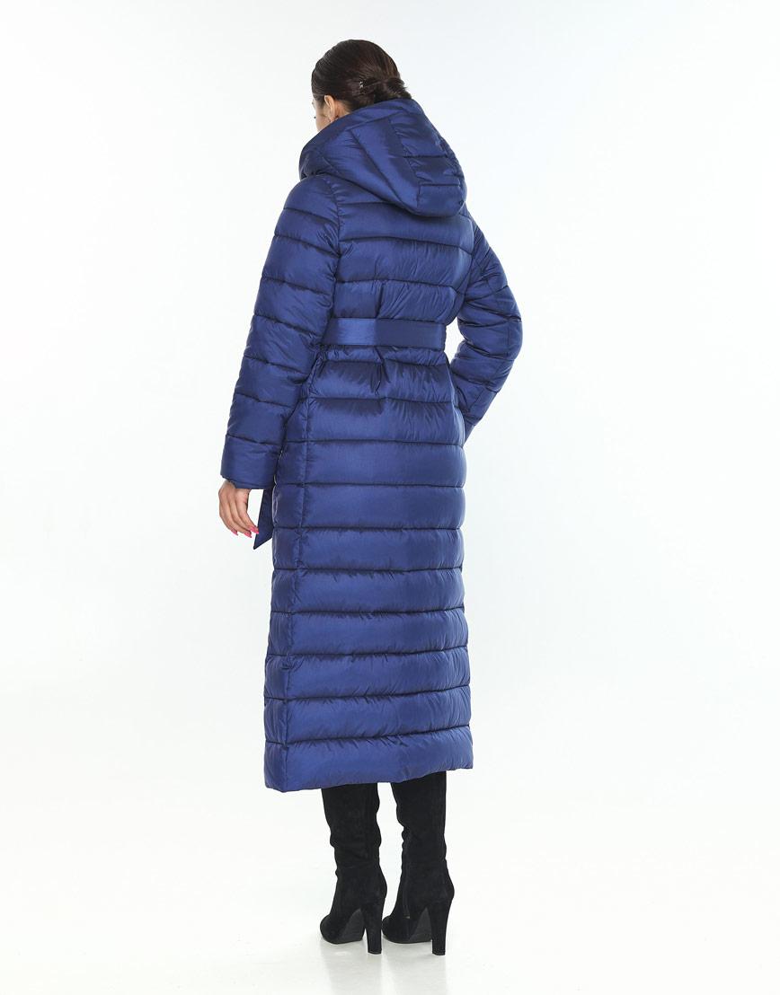 Комфортная женская куртка Wild Club синяя 524-65 фото 3