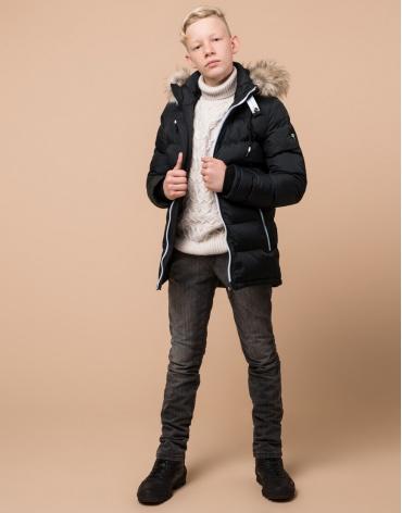 Графитовая куртка детская модель 68255 оптом