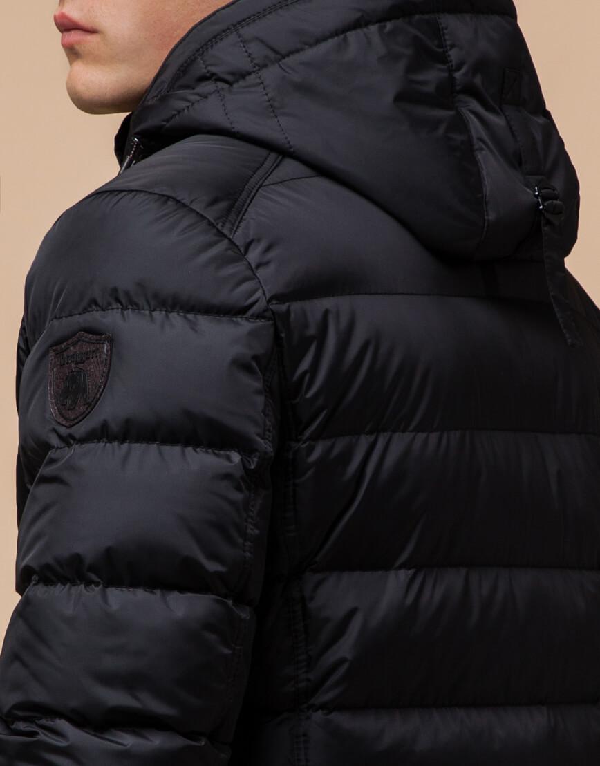 Черная качественная куртка с капюшоном модель 20849 фото 6