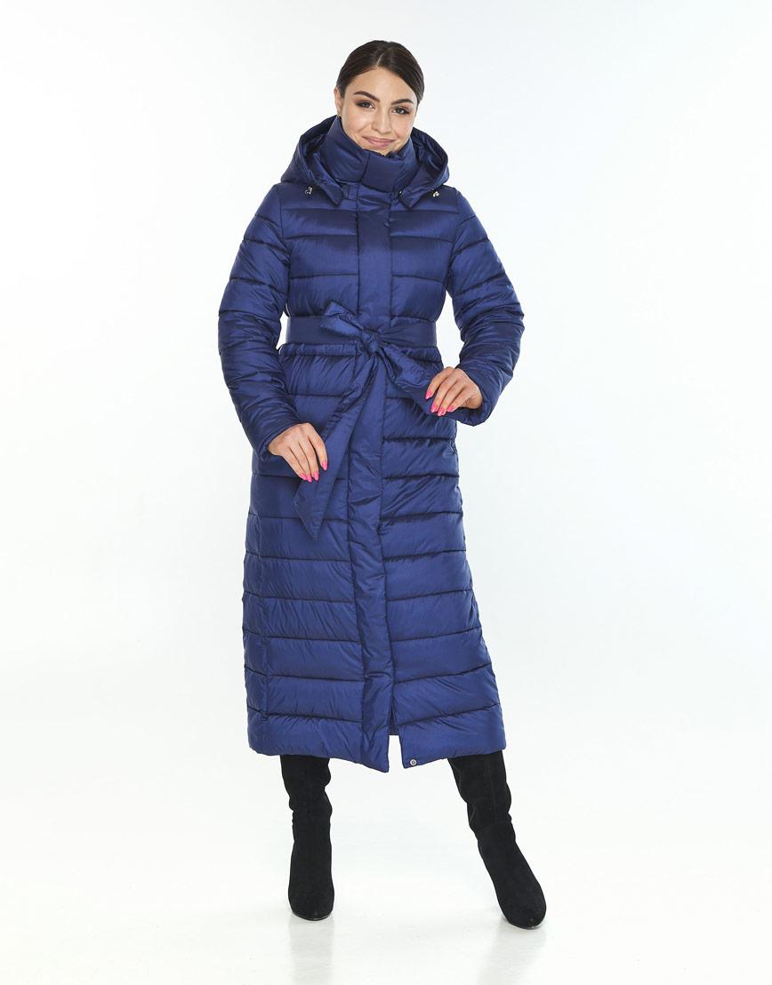 Комфортная женская куртка Wild Club синяя 524-65 фото 2