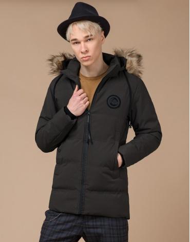 Высококачественная куртка молодежная цвета кофе модель 25550