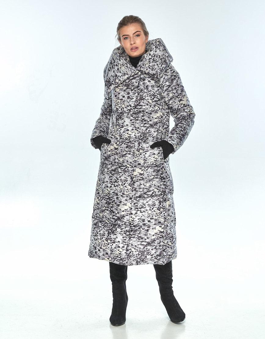 Зимняя куртка с рисунком женская Ajento модная 21550 фото 2
