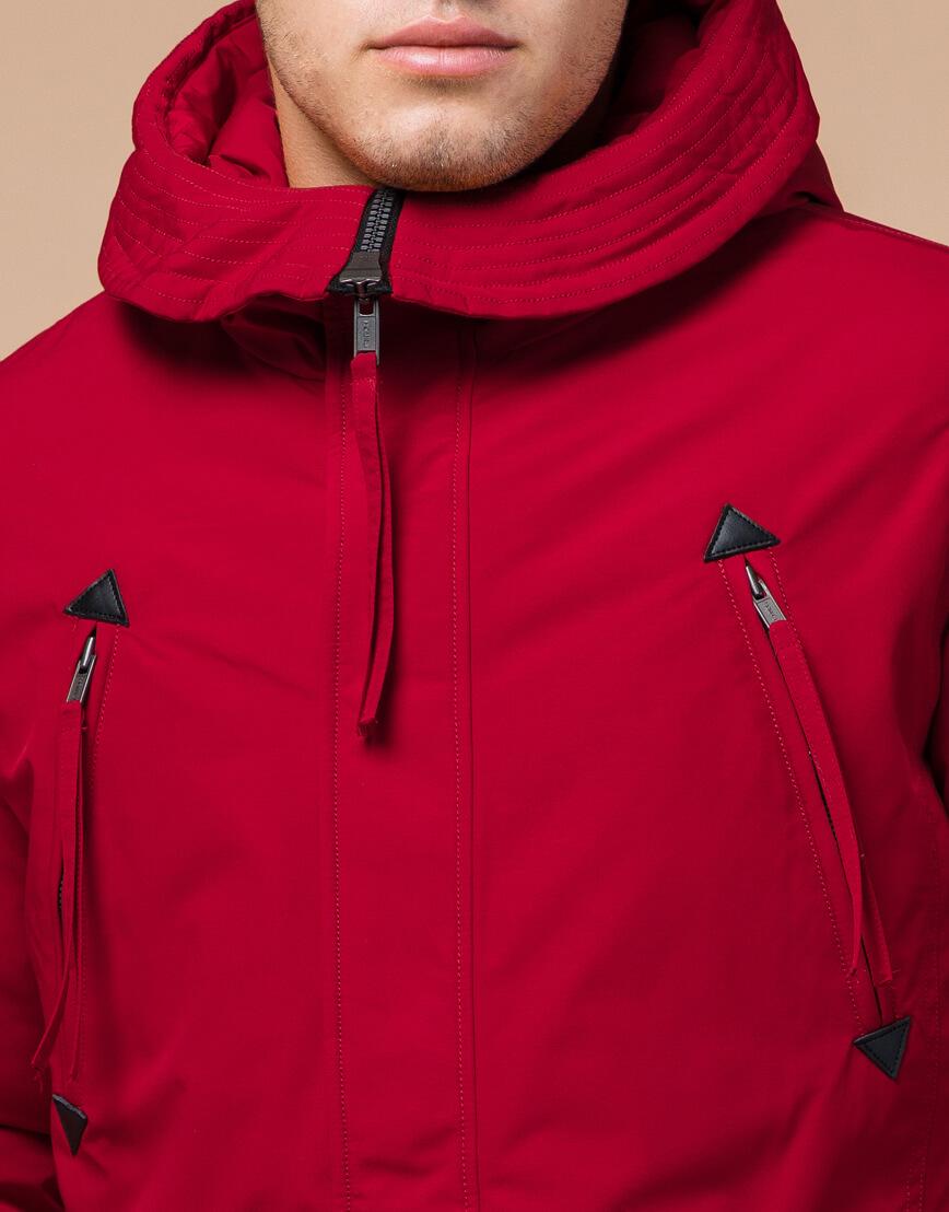 Мужская парка красная на зиму модель 23675 оптом фото 4