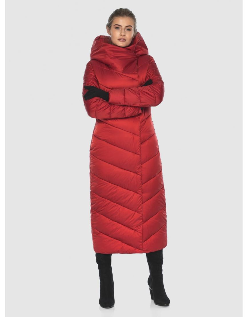 Куртка Ajento длинная женская красного цвета 23046 фото 2