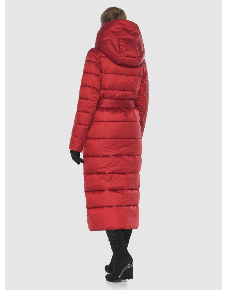 Куртка Ajento длинная женская красного цвета 23046 фото 4