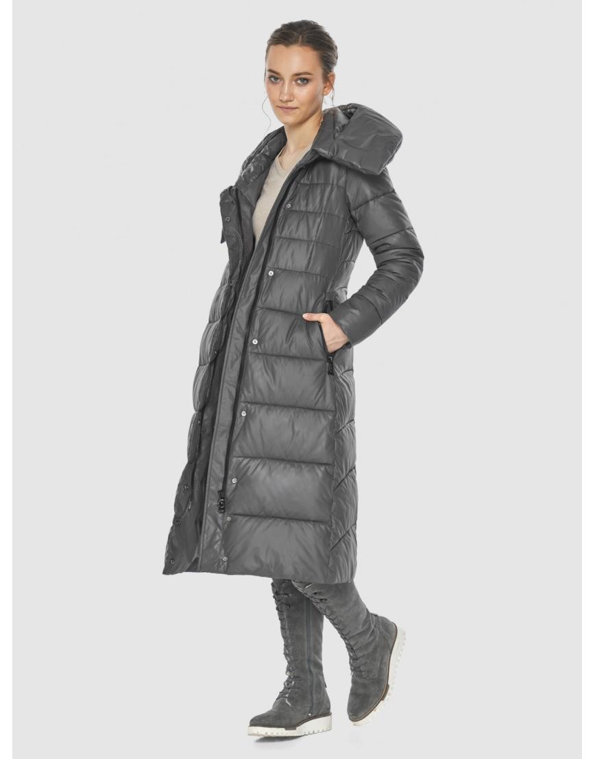 Серая оригинальная длинная женская курточка Wild Club 586-25 фото 2
