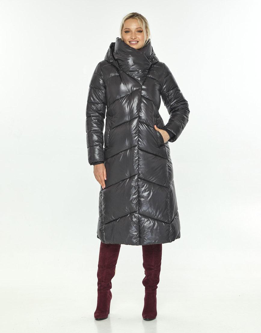 Фирменная куртка зимняя женская Kiro Tokao серая 60035 фото 1