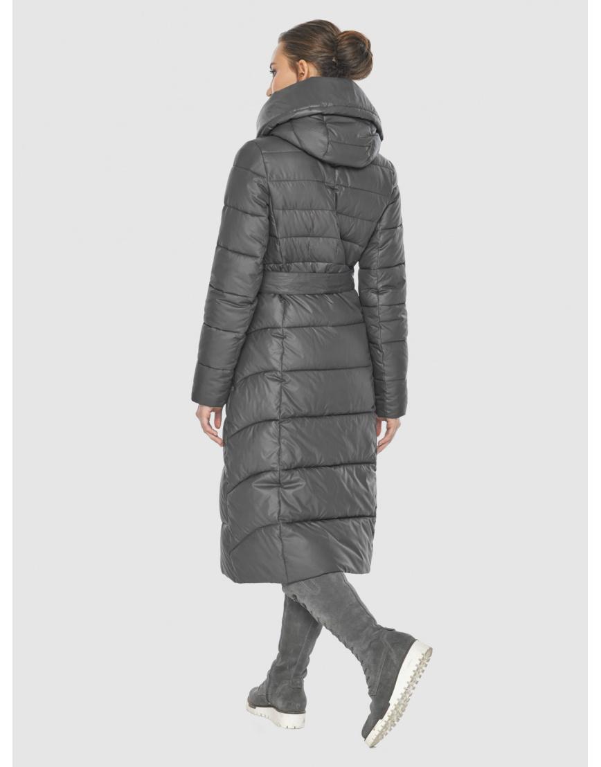 Серая оригинальная длинная женская курточка Wild Club 586-25 фото 4