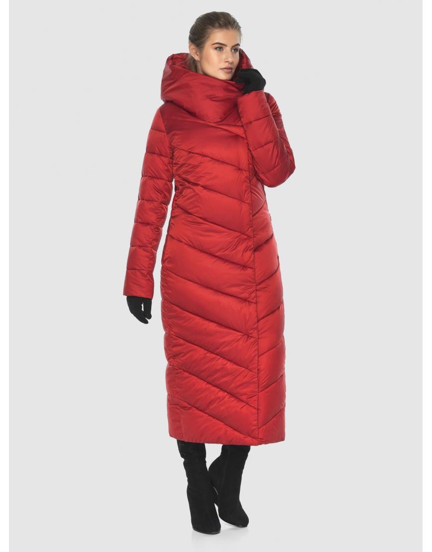 Куртка Ajento длинная женская красного цвета 23046 фото 3