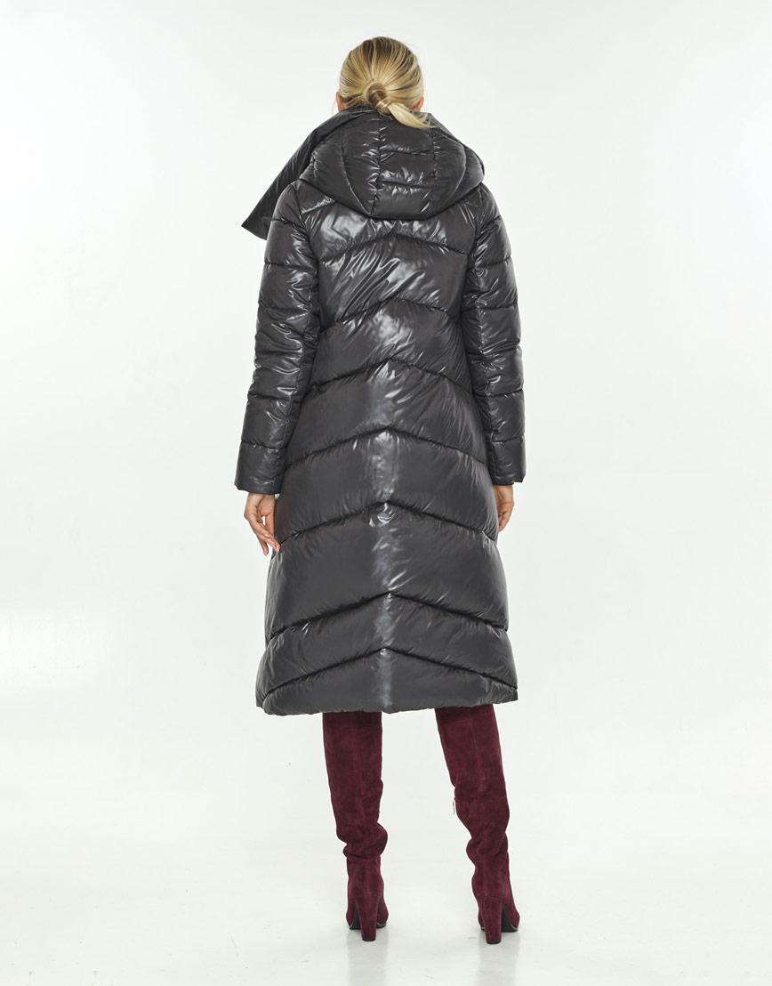 Фирменная куртка зимняя женская Kiro Tokao серая 60035 фото 3