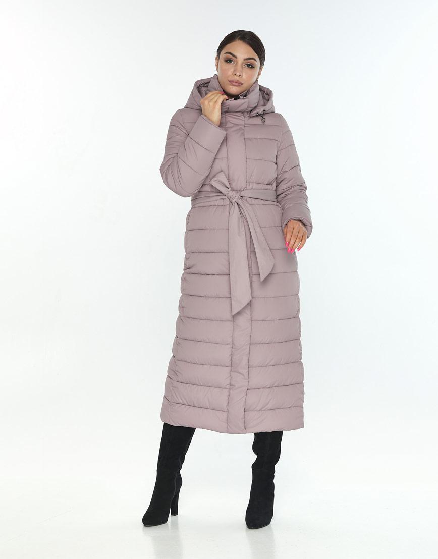 Женская стильная куртка Wild Club цвет пудра 524-65 фото 2