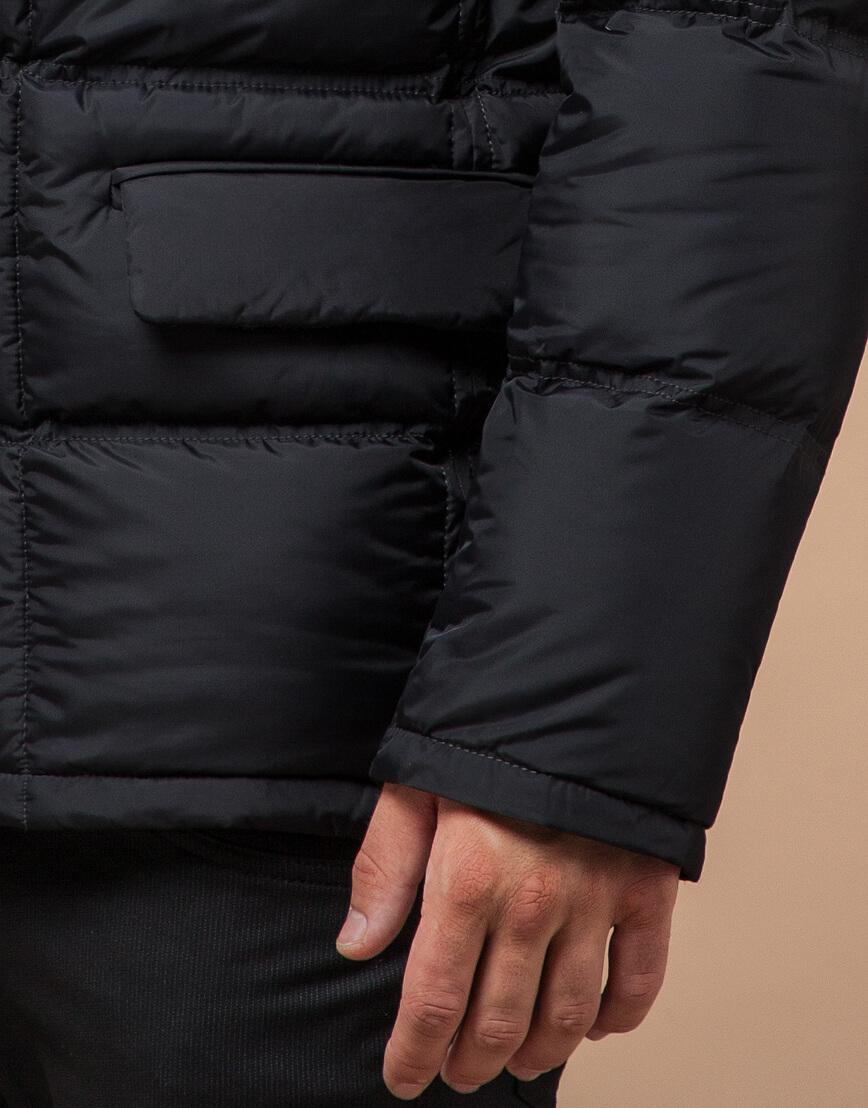 Современная зимняя графитовая куртка мужская модель 2609