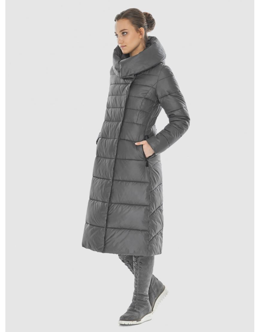 Серая оригинальная длинная женская курточка Wild Club 586-25 фото 3