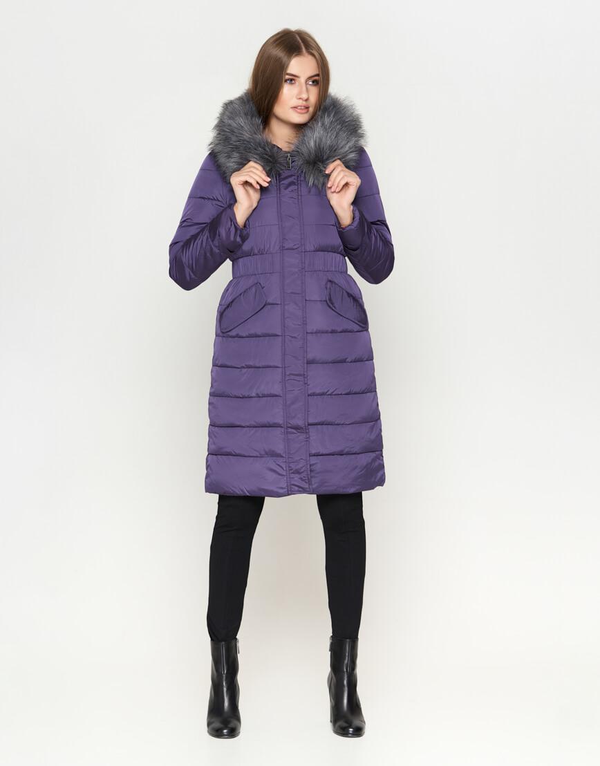 Фиолетовая удобная женская куртка модель 8606 фото 2