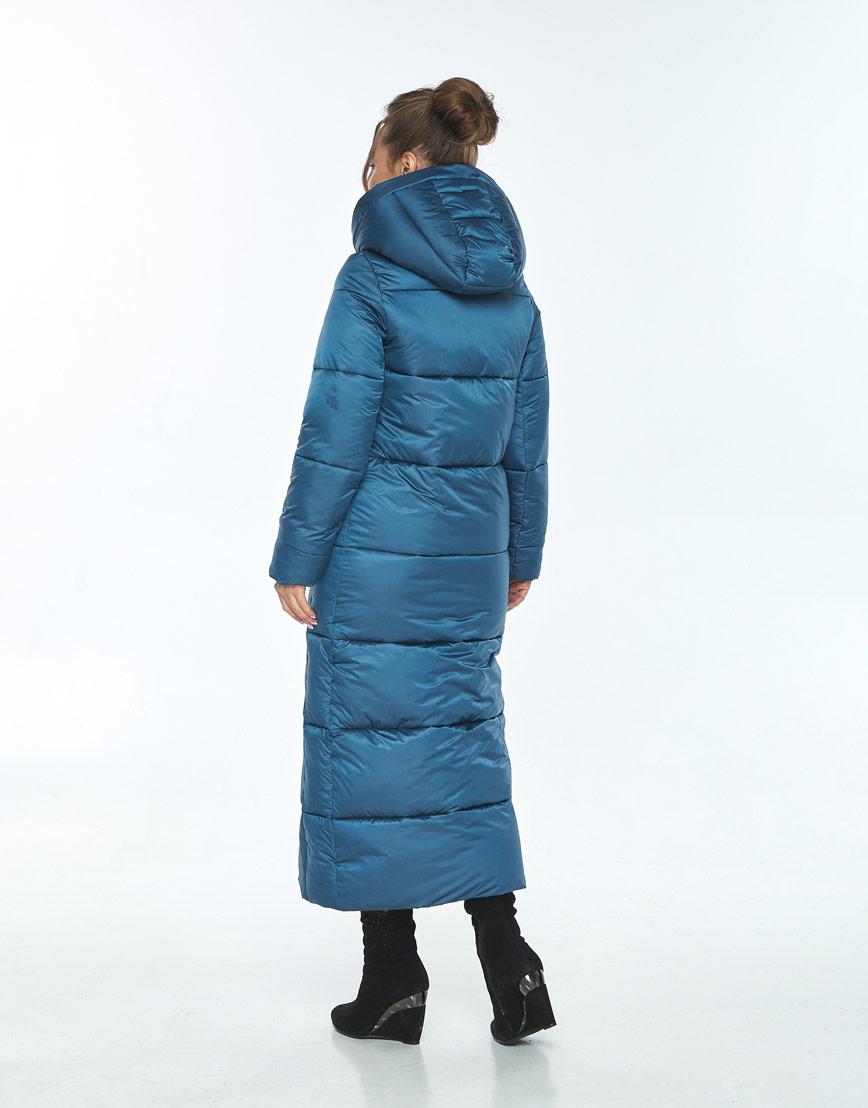 Куртка длинная на зиму женская Ajento аквамариновая 21972 фото 3