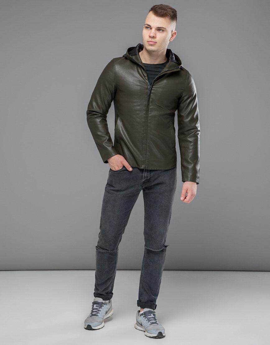 Мужская куртка цвета хаки модель 15353 фото 1
