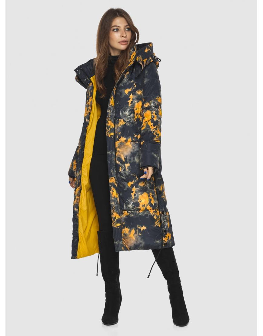 Куртка фирменная с рисунком женская Ajento длинная 23160 фото 6