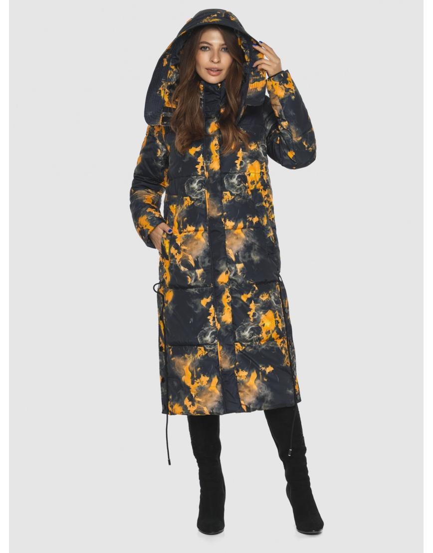Куртка фирменная с рисунком женская Ajento длинная 23160 фото 3