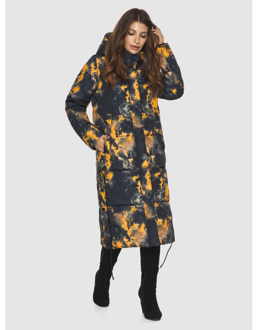 Куртка фирменная с рисунком женская Ajento длинная 23160 фото 5
