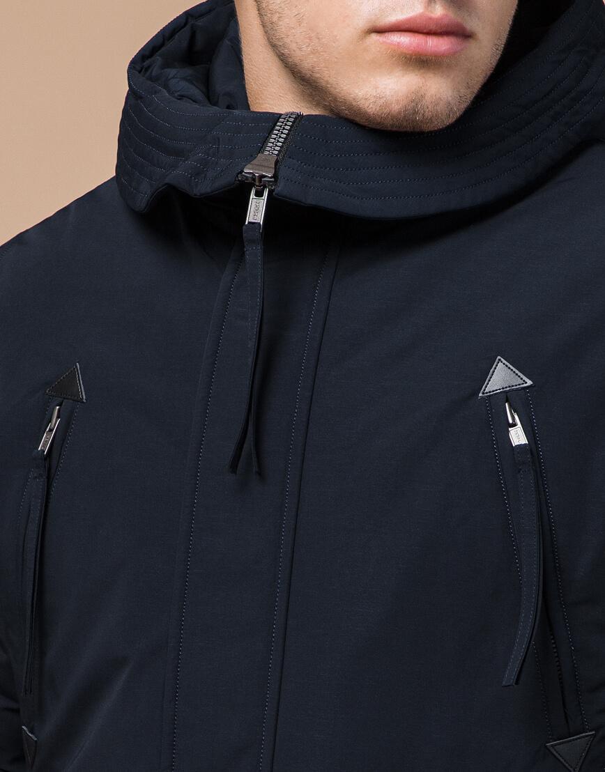 Зимняя темно-синяя парка мужская модель 23675 оптом фото 4