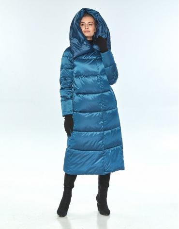 Аквамариновая стильная куртка женская Ajento зимняя 21550 фото 1