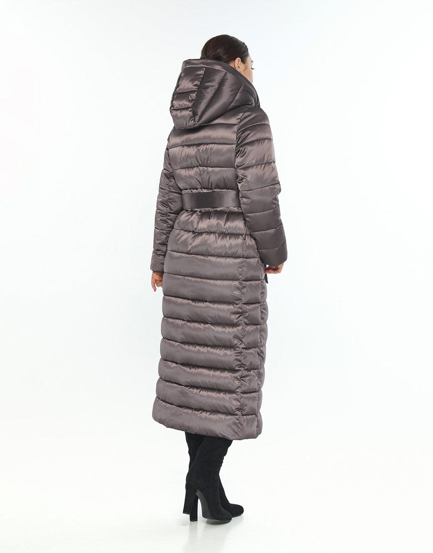 Трендовая длинная куртка женская Wild Club капучиновая 524-65 фото 3