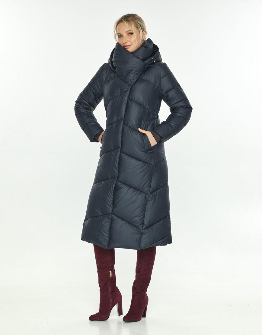 Куртка зимняя женская длинная синяя Kiro Tokao 60035 фото 1