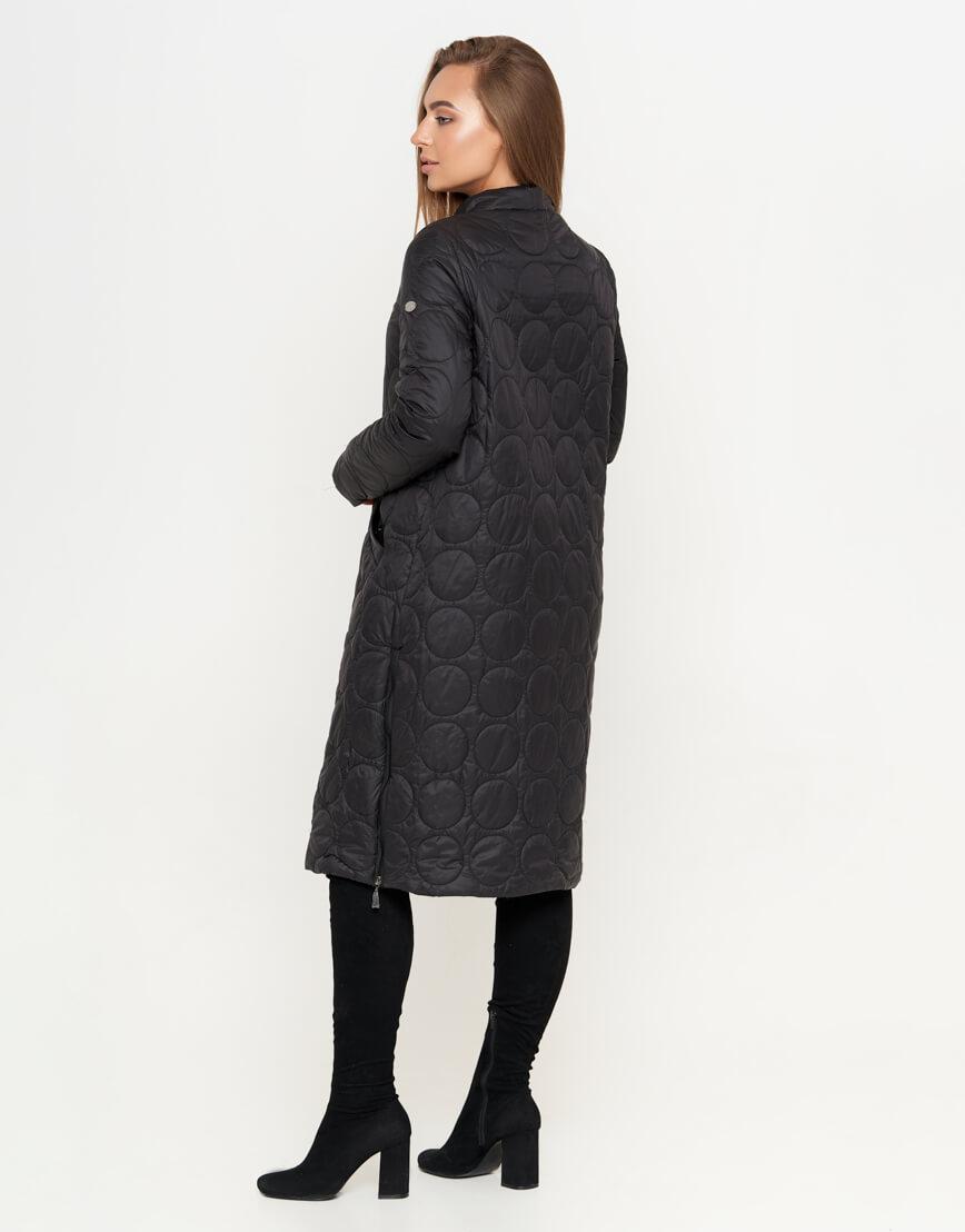 Черная женская куртка модного фасона модель 1817