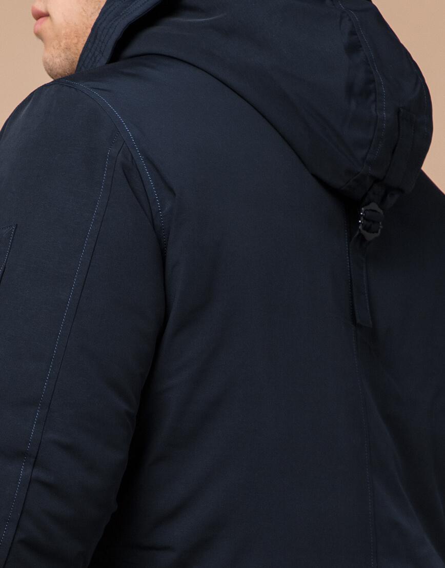 Зимняя темно-синяя парка мужская модель 23675 оптом фото 6