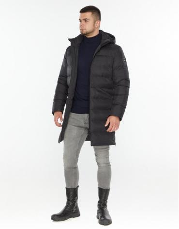 Зимняя куртка графитовая для мужчин модель 35260 оптом фото 1