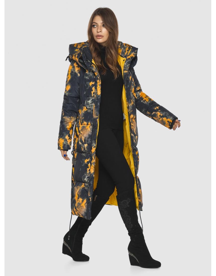 Куртка фирменная с рисунком женская Ajento длинная 23160 фото 2