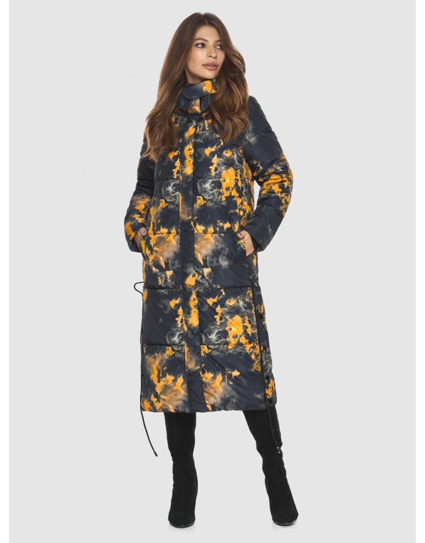 Куртка фирменная с рисунком женская Ajento длинная 23160 фото 1