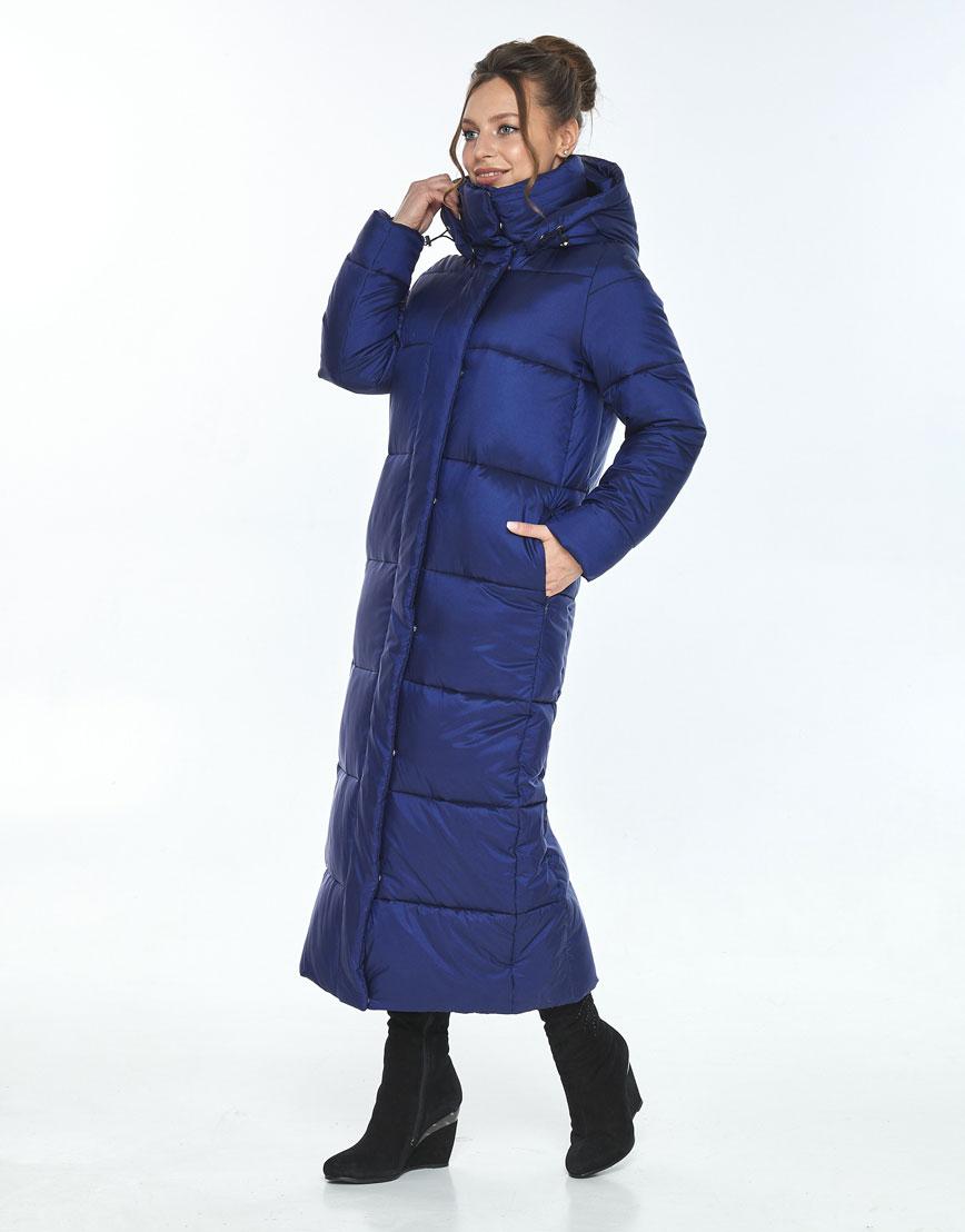 Синяя куртка свободного фасона женская Ajento зимняя 21972 фото 2