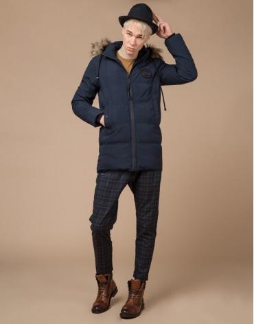 Куртка оригинальная молодежная синяя модель 25550 фото 1