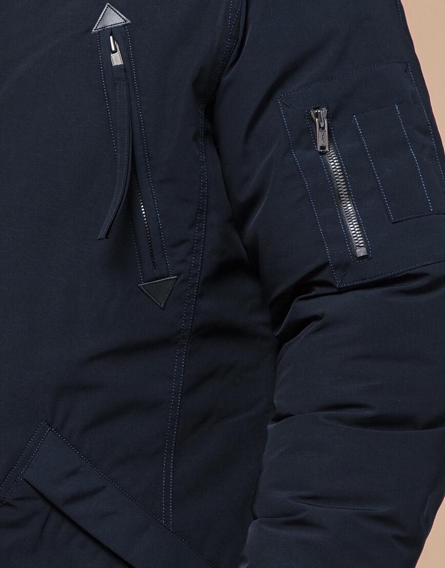 Зимняя темно-синяя парка мужская модель 23675 оптом фото 5
