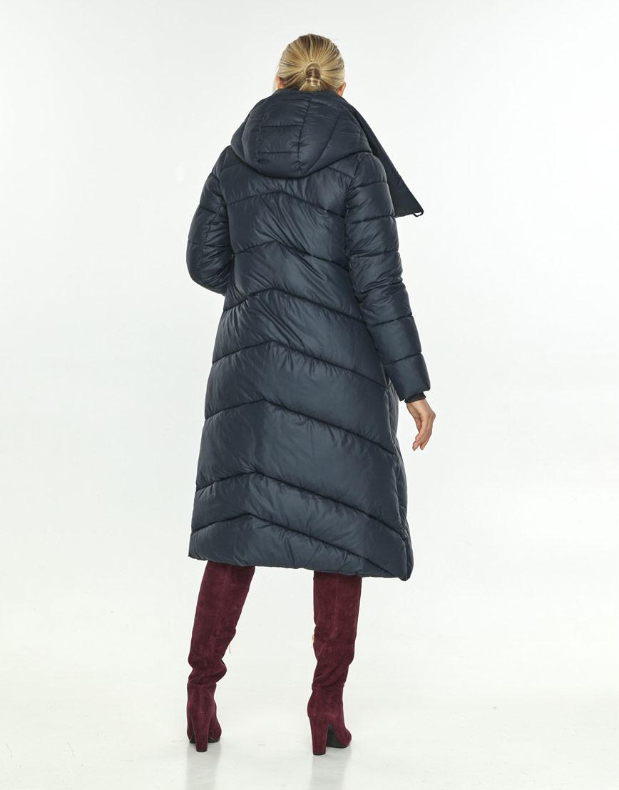 Куртка зимняя женская длинная синяя Kiro Tokao 60035 фото 3