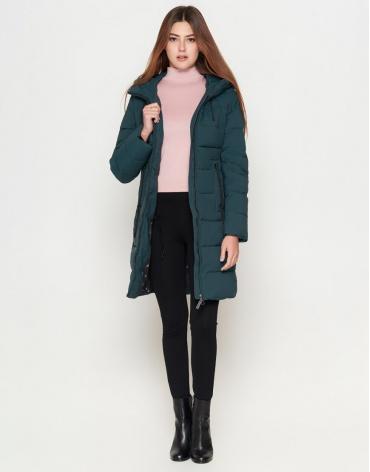 Женская куртка бирюзового цвета модель 25005