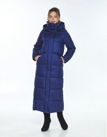 Синяя куртка свободного фасона женская Ajento зимняя 21972 фото 1