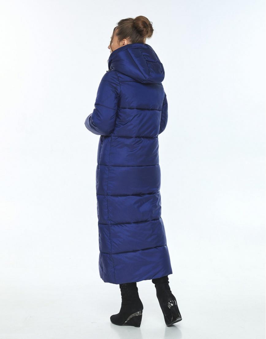 Синяя куртка свободного фасона женская Ajento зимняя 21972 фото 3