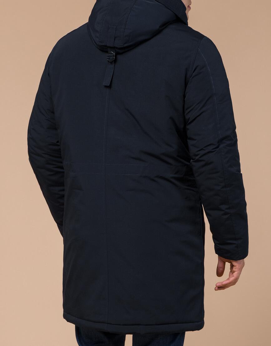 Зимняя темно-синяя парка мужская модель 23675 оптом фото 3