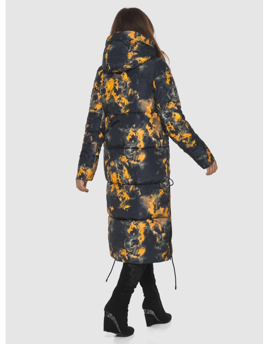 Куртка фирменная с рисунком женская Ajento длинная 23160 фото 4