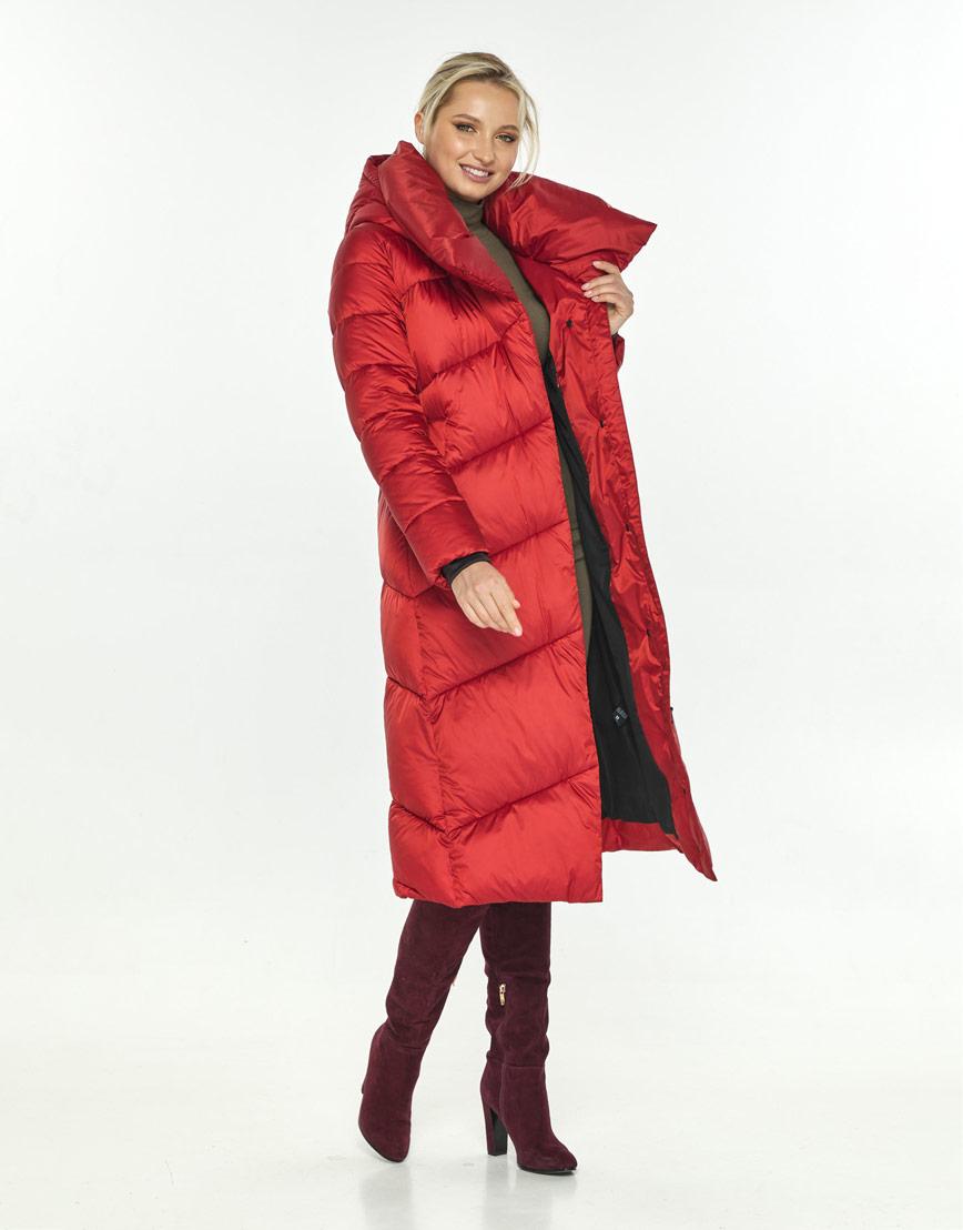Яркая красная куртка на зиму женская Kiro Tokao 60035 фото 1