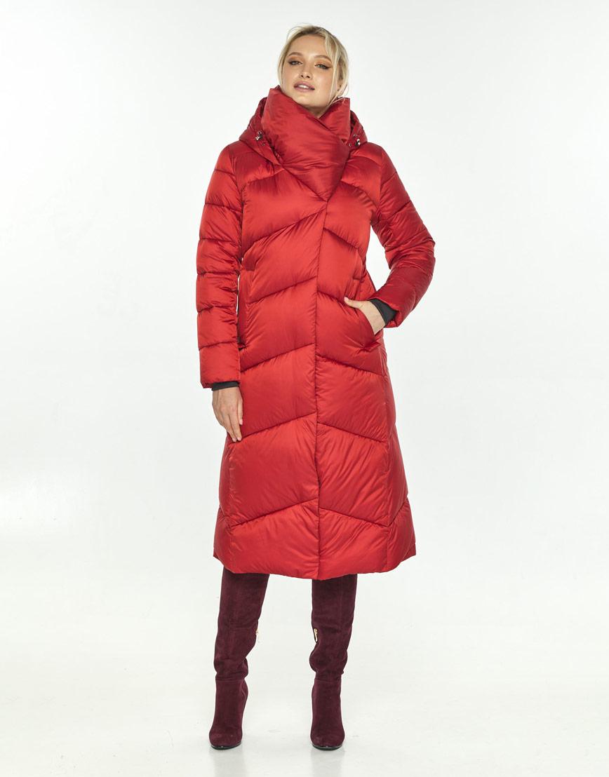 Яркая красная куртка на зиму женская Kiro Tokao 60035 фото 2