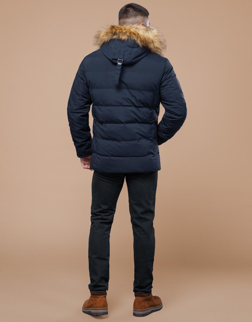 Молодежная синяя куртка с капюшоном модель 25780 фото 4