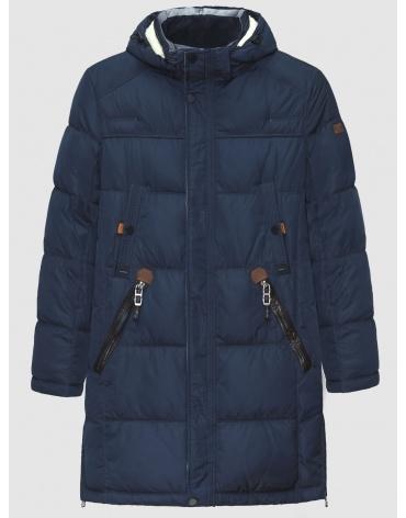 50 (L) – последний размер – длинная куртка ZPJV синяя мужская зимняя 200023 фото 1