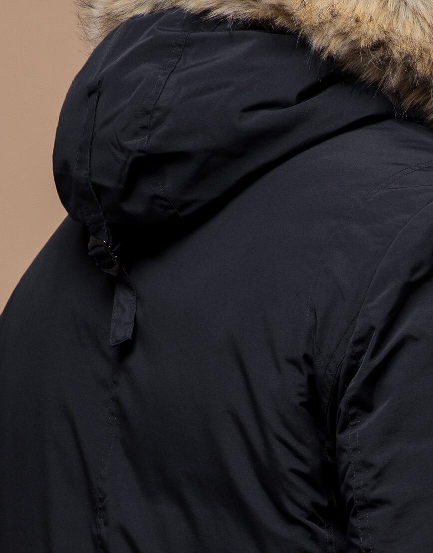 Парка с карманами зимняя черная модель 37560 фото 6